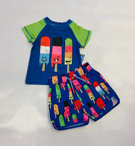 Andy & Evan UPF 50 Boys Popsicle Rashguard Set
