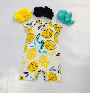 Za Za Couture Lemon Romper
