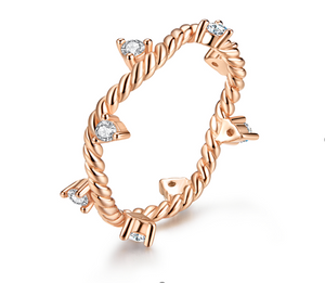 Crystal Twisted Ring (SBR577-6)