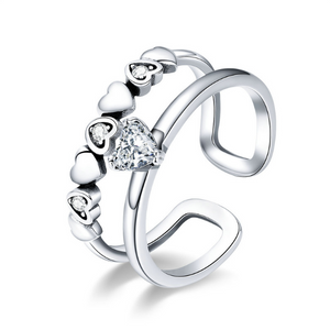 Delightful Heart Ring (sbR429-SS)