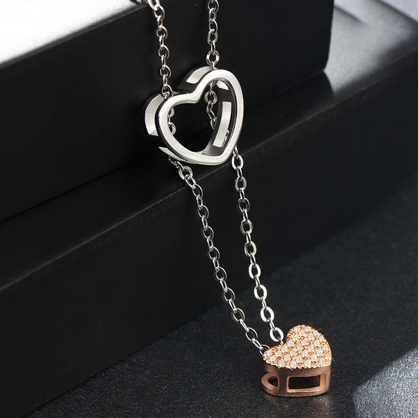 2 Become 1 Hearts Gem Rose Gold (T603)