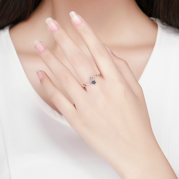 Moonlight Stars Ring (sbR437-SS)
