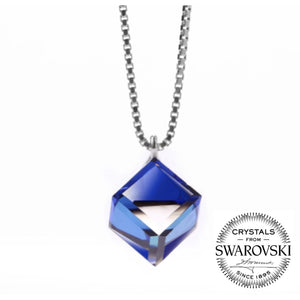 Swarovski Magical Clasp of Blue Necklace (T624)