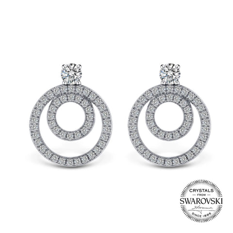 Classic Circle in a Circle Loop Earring (T60)