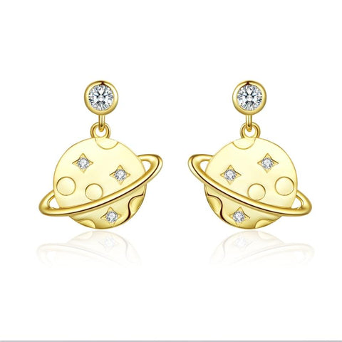 Milky Way Glaxy Stud Dangle Earrings (SBSE091)