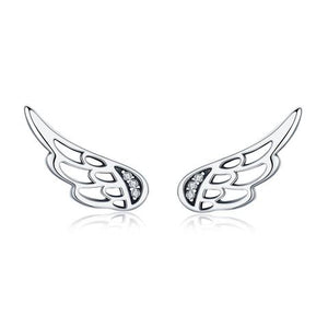 Angel Wings Earrings* (SBE343-SS)