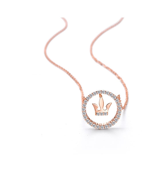 Dangling Shining Crown Necklace (T369*)