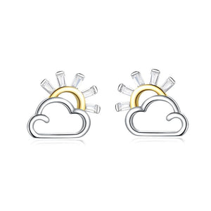 Sunshine on Cloud Stud Earrings (SBSE190)