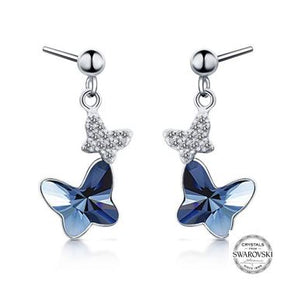 Swarovski Fluttering Butterfly Earrings (T77-SS)