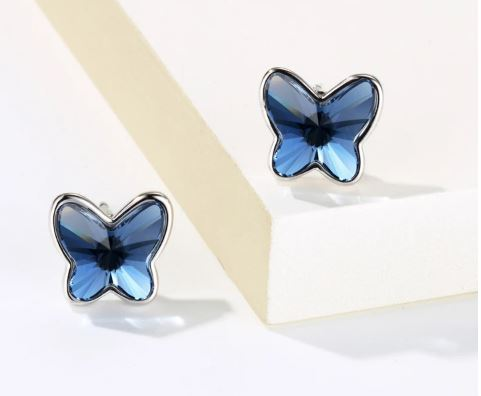 Dazzling Butterfly Stud Earrings  (T182)
