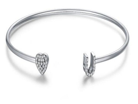 Hearts and Luck Cuff Bracelet (sbB041)