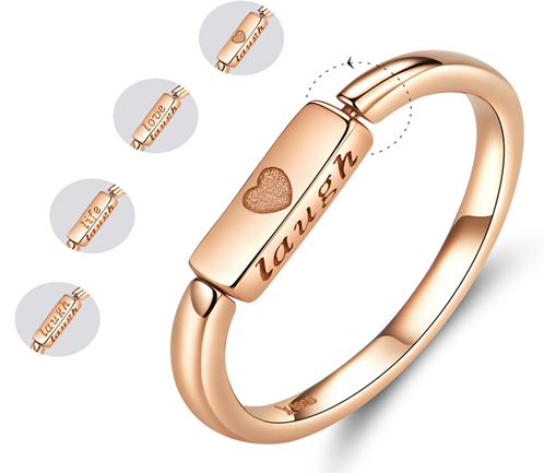 Rotating Life Reminder Ring (SBR587-6-SS)