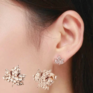 Autumn maple leaves Earrings (SBR481-SS)