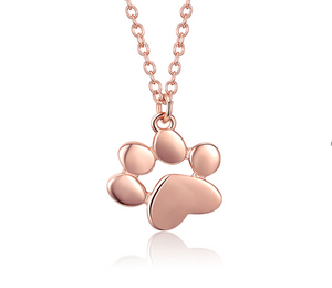 Paw Rose Gold Necklace (SBN275-3)