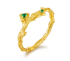 Emerald gold ring (SBSR061-6)