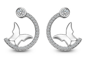 Butterfly Hoop Earrings (t229)