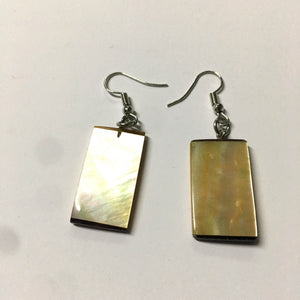 Mother of Pearl Shell Rectangle Earrings