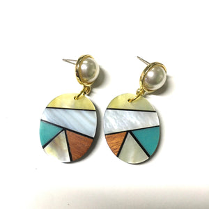 Mother of Pearl Colorful Earrings