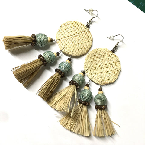 Rafya Fiber Handmade Earrings