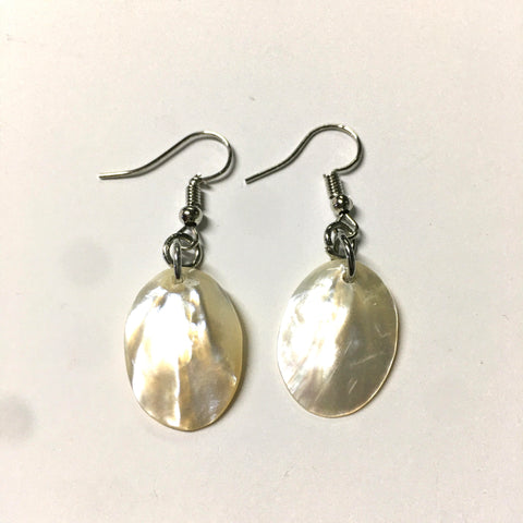 Pearly White Mother of Pearl Earrings