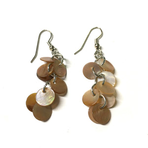 Vintage Circle Shell Earrings