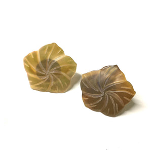 Mother of Pearl Rose Flower Earrings