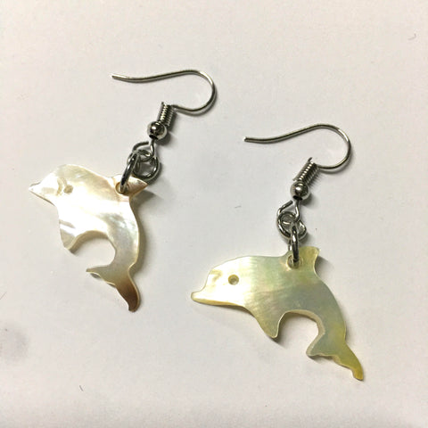 Dolphin Shell Mother of Pearl Earrings