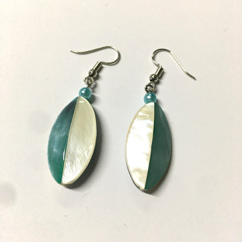 Pastel Leaf Mother of Pearl Earrings