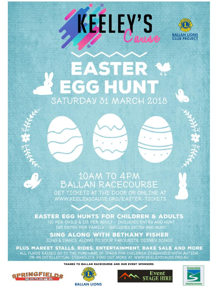 Keeley's Cause Easter Egg Hunt 31st March