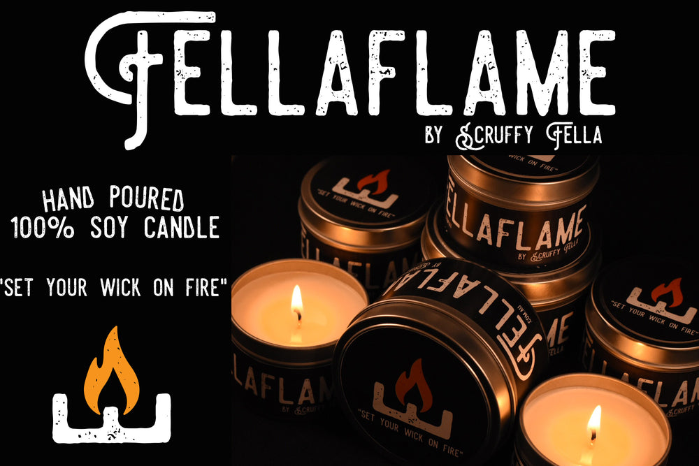 Fellaflame by Scruffy Fella - Fella Flame 100% Soy Wax Candles