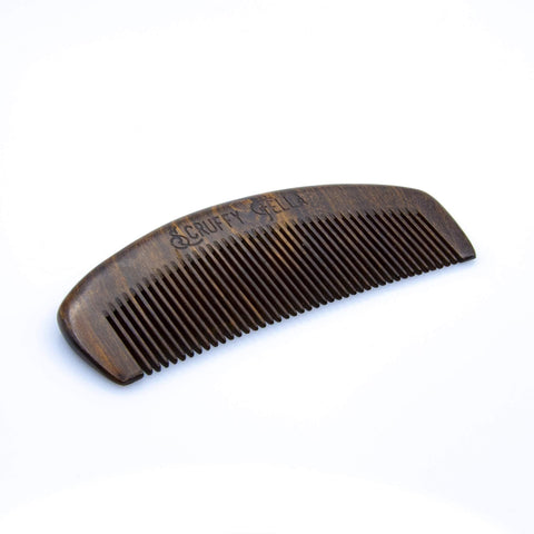 Scruffy Fella Black Sandalwood Comb