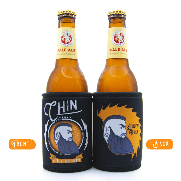 Scruffy Fella Stubby Holder - Chin full of win