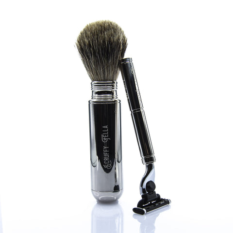 Travel Shaving Set Open
