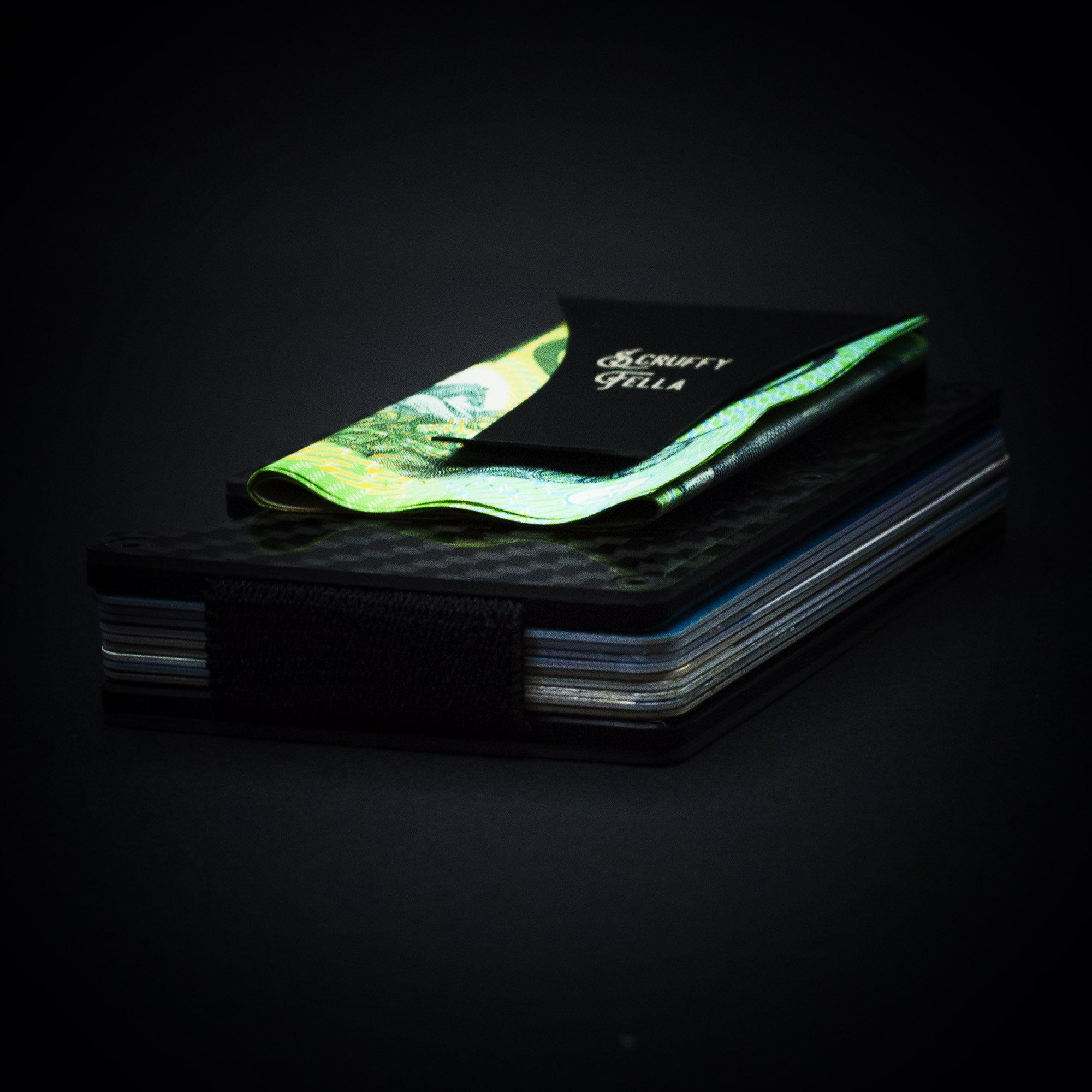 Scruffy Fella Accessories Carbon Fibre Minimalist Wallet