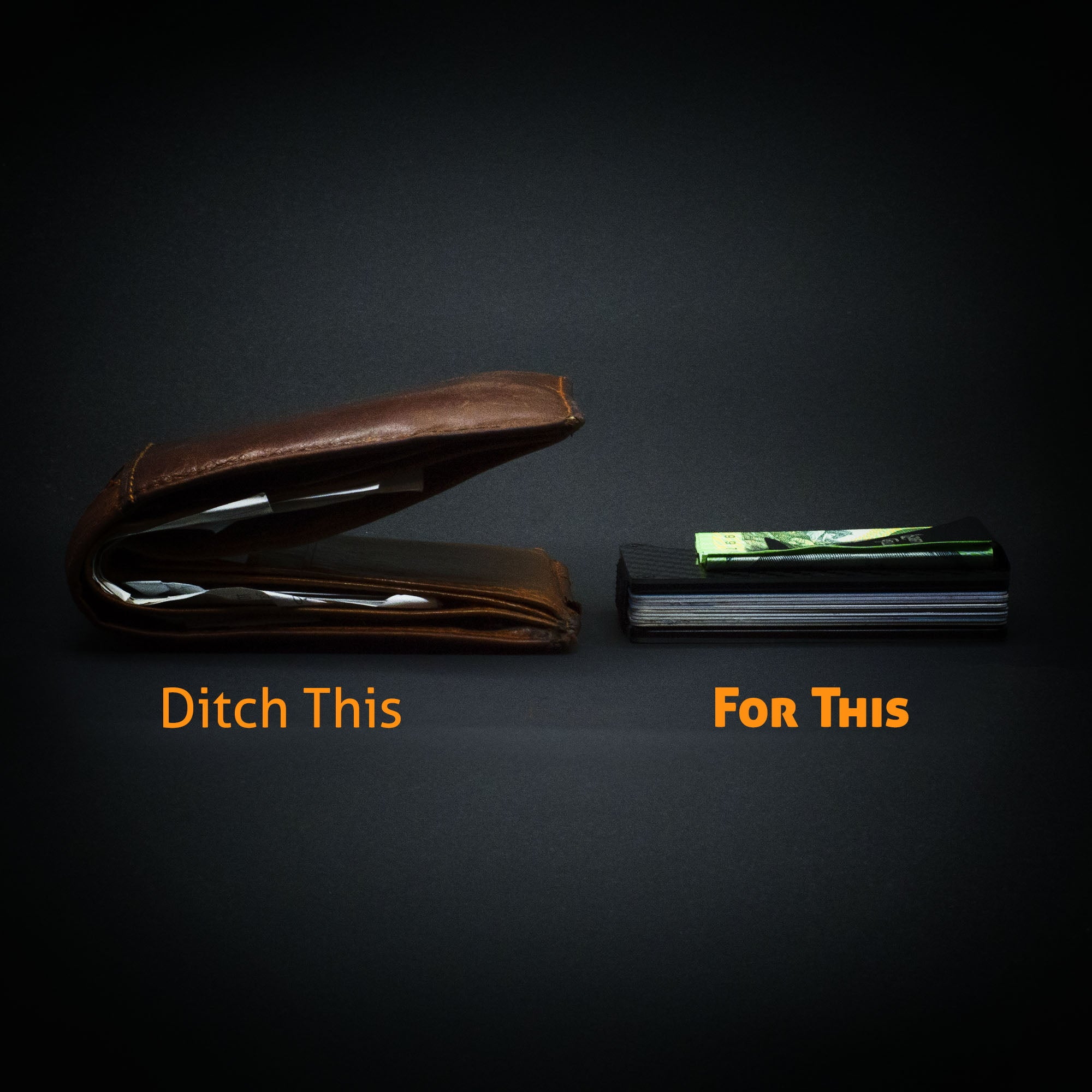 Scruffy Fella Accessories Carbon Fibre Minimalist Wallet - Ditch the old wallet for this