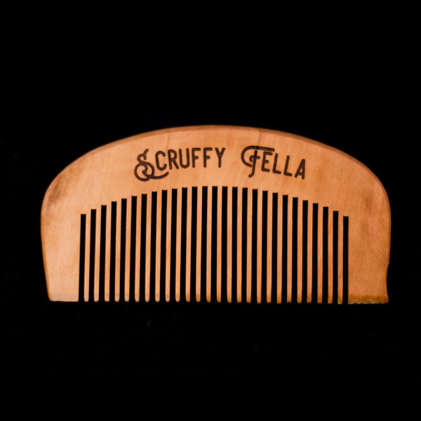 Scruffy Fella Wood Comb