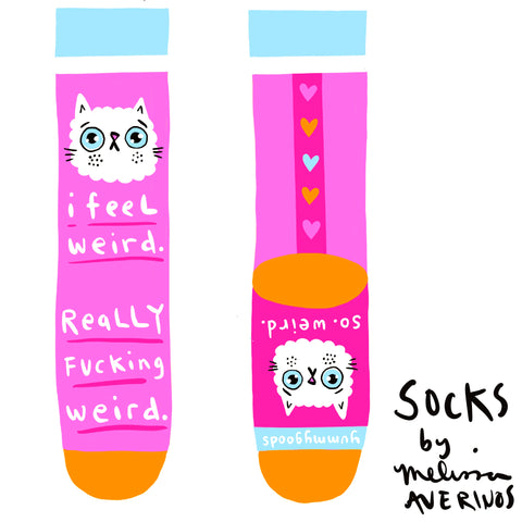 PREORDER I FEEL WEIRD women's socks