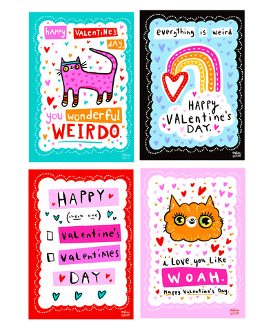 PREORDER Yummy Valentine Bundle (12 cards, 3 each of 4 designs)