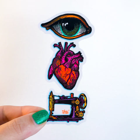 EYE HEART SEWING sticker