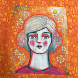 "WICKED PALE LADY 10""x10"" fabric panel"