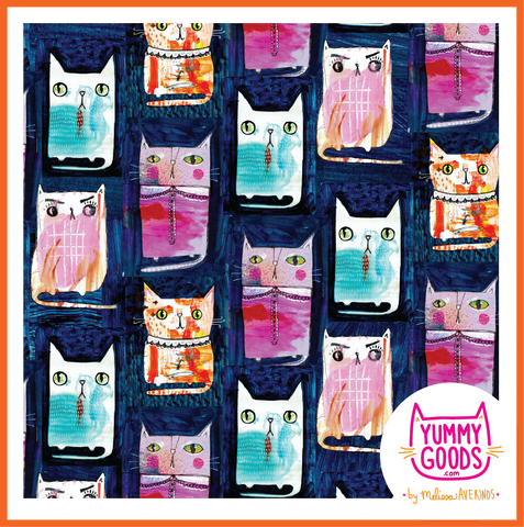 PAINTY CATS capri leggings - Melissa Averinos