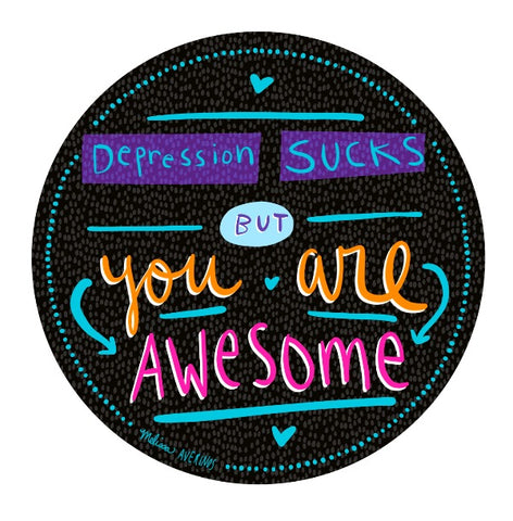 DEPRESSION SUCKS sticker