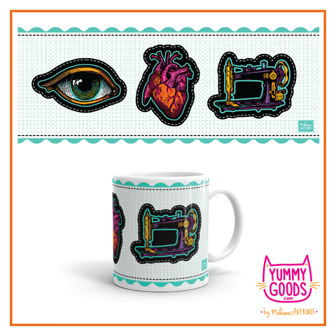 EYE HEART SEWING  Mug - Melissa Averinos