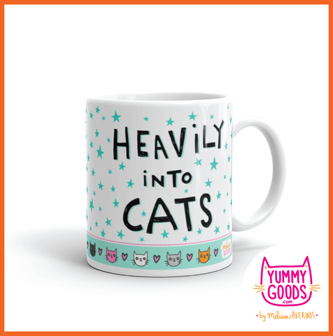 HEAVILY INTO CATS Mug - Melissa Averinos