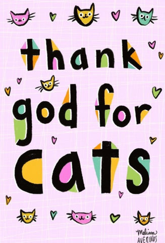 Preorder THANK GOD FOR CATS magnet