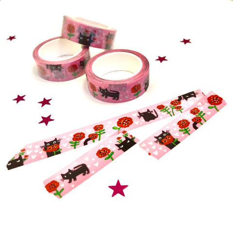POPPY CATS washi tape (15mm)