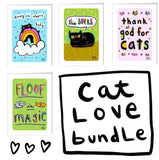 CAT LOVE card bundle - save $5!