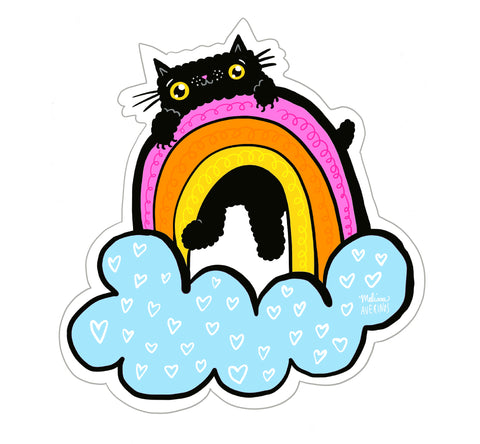 Preorder RAINBOW KITTY sticker