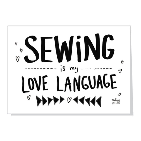 SEWING IS MY LOVE LANGUAGE card