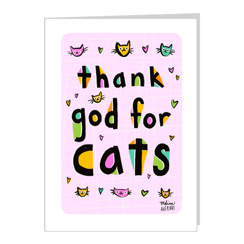 THANK GOD FOR CATS card